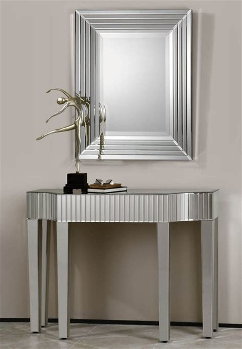 Hallway Table And Mirror Mirrored Hallway Table