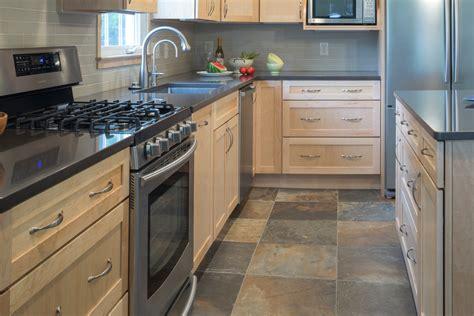 porcelain tile that looks like slate Kitchen Contemporary with modern porcelain tile floor