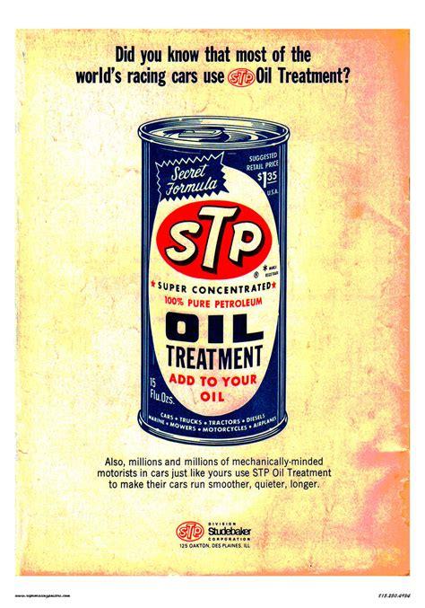 stp oil treatment racing poster  crashdaddy racing decals