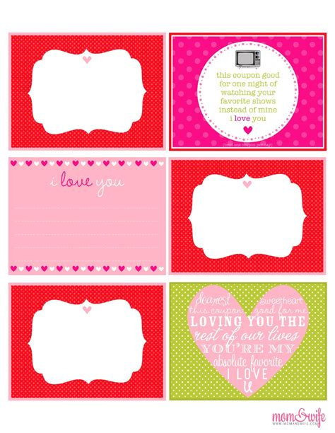 free online printable love coupons delightful order valentines day gift ideas free printables