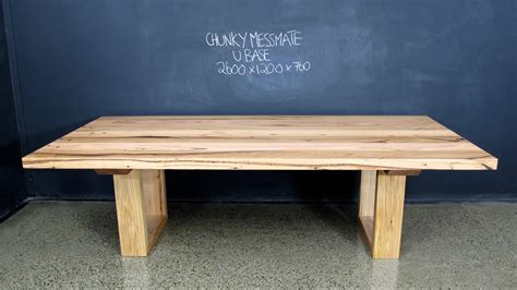 Handmade Dining Tables Melbourne - chunky messmate christian cole furniture