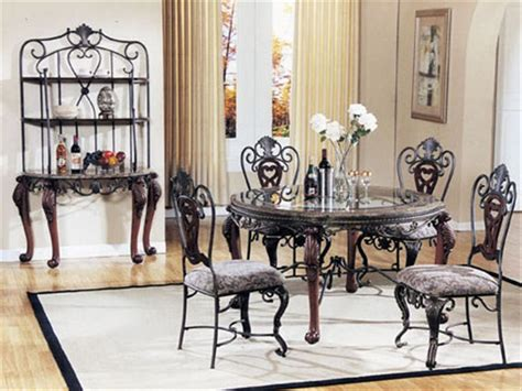 Round Glass Iron Dining Table