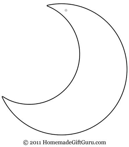 moon template free coloring pages of moon shape