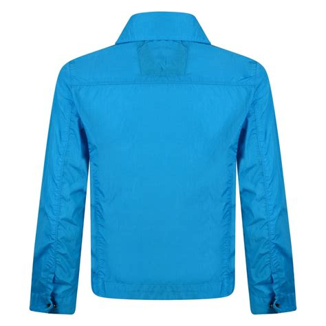 Cp Turquise cp company boys turquoise overshirt jacket with logo plaque cp company from chocolate clothing uk