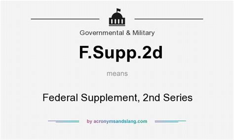 i supplement meaning what does f supp 2d definition of f supp 2d f