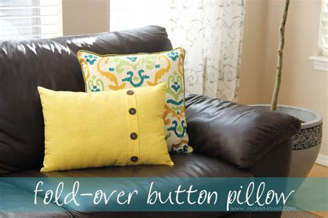How To Make A Pillow With Button fold button pillow home decor make it and it