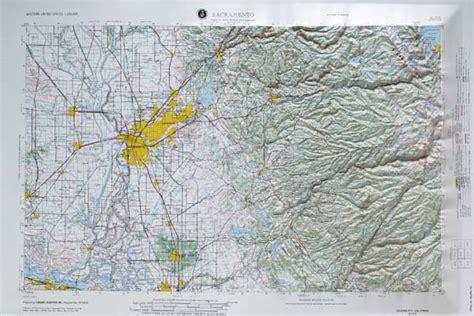 raised relief map  sacramento california usgs