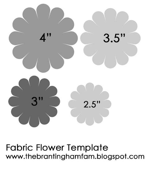 fabric templates felt flower template felt patterns flower