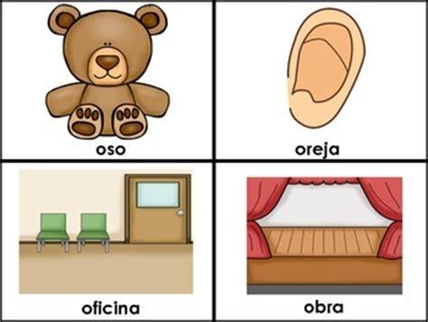imagenes que empiezan con la letra o letra o las vocales spanish flashcards for the letter