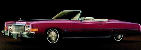 1974 cadillac eldorado convertible shown in new 1974 color cranberry firemist paint code 99