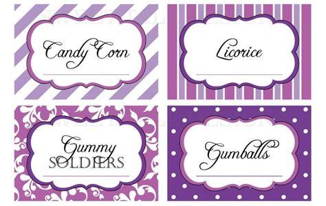printable dessert labels printable labels printable candy buffet labels