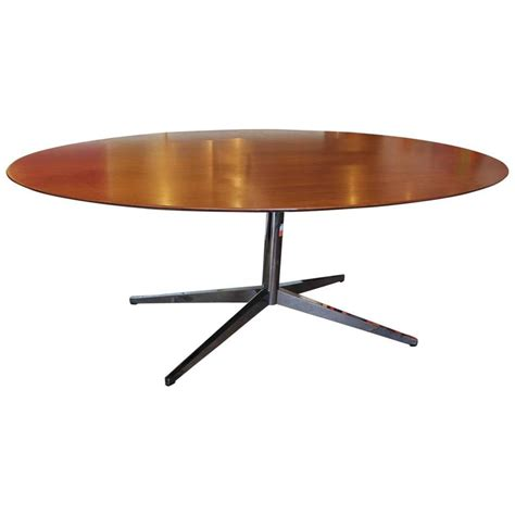 knoll dining table florence knoll oval dining table in walnut and chrome at