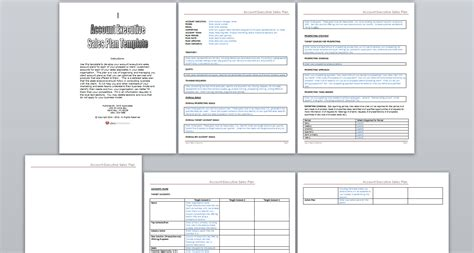 sales account plan template free download plan template