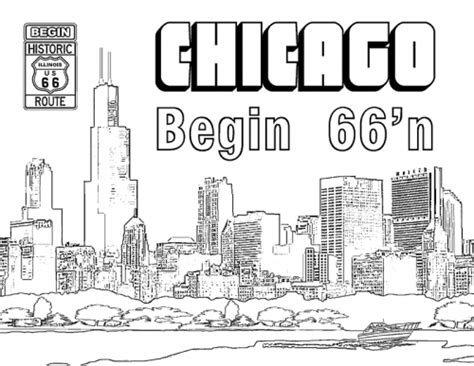 chicago skyline coloring page coloring pages ideas