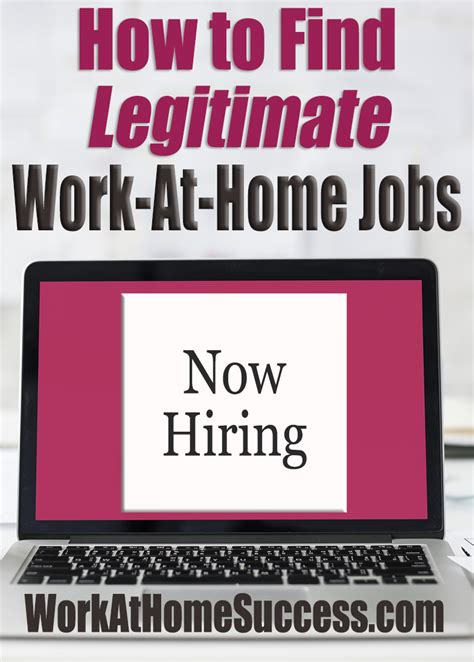 how to find legitimate work at home