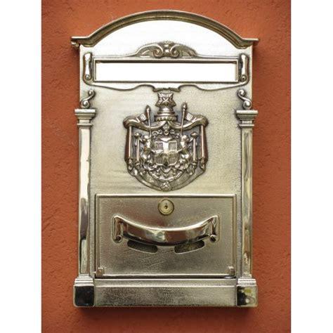 cassetta posta cassetta posta ottone lucido stemma regio 10009 l