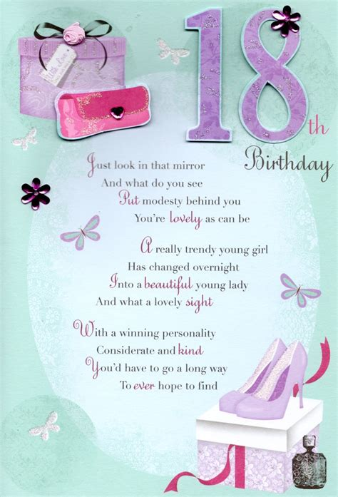 18th Birthday Quotes For Niece 18th Happy Birthday Greeting Card Cards Love Kates