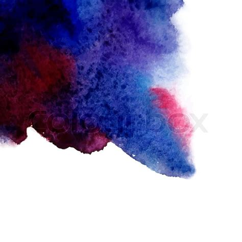 vector abstract hand drawn watercolor background blue