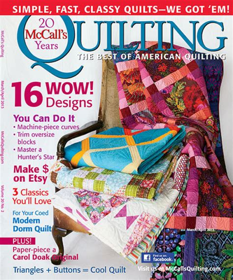 Digital Issue Of Quilting Marchapril 2005 mccall s quilting march april 2013 digital edition