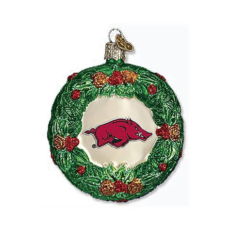 razorback wreath ornament