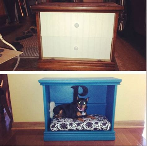 dog bed nightstand before and after turned a thrift store night stand into a