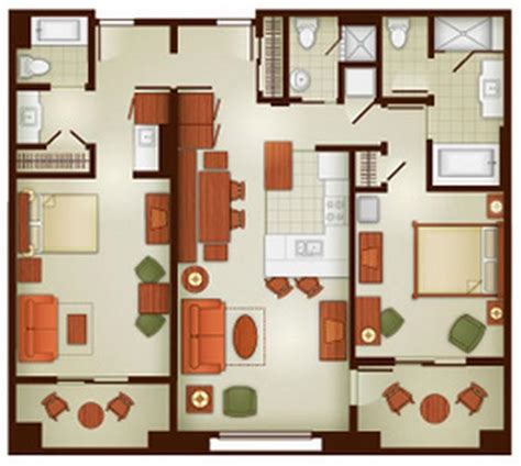 grand hotel room layout grand californian