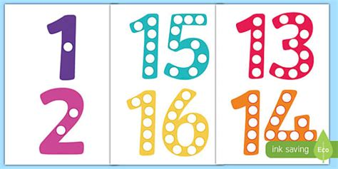 printable numbers twinkl printable numbers 1 20 counting counting aid counting