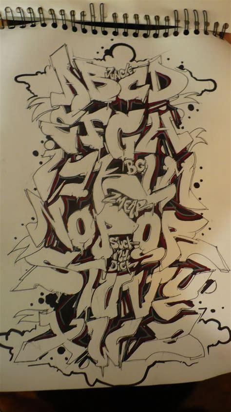 alphabet graffiti style   year  myblogs blog