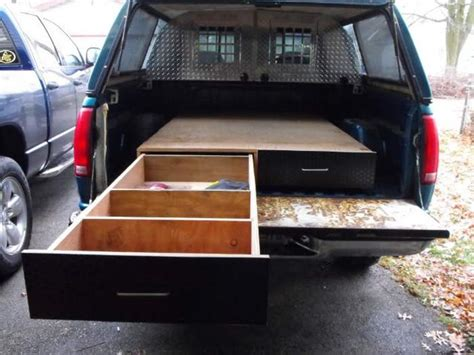 diy truck bed cer learn how to install a sliding truck bed drawer system