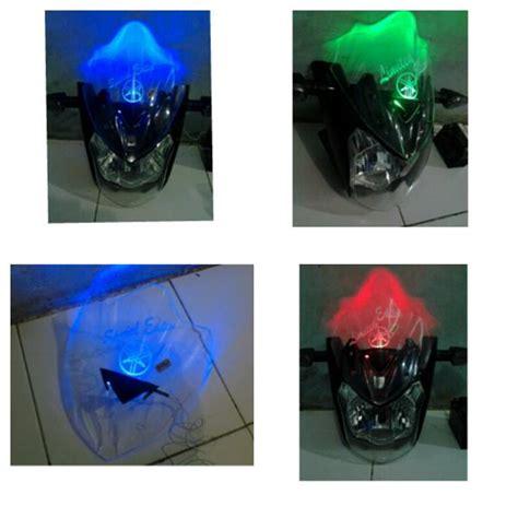 Lu Led Untuk Motor Vixion modifikasi new vixion dengan ganti visor standard jadi led