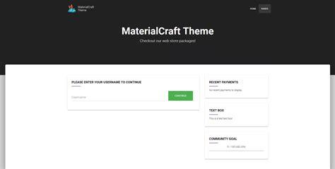 buycraft themes maker offering 10 materialcraft buycraft theme minecraft