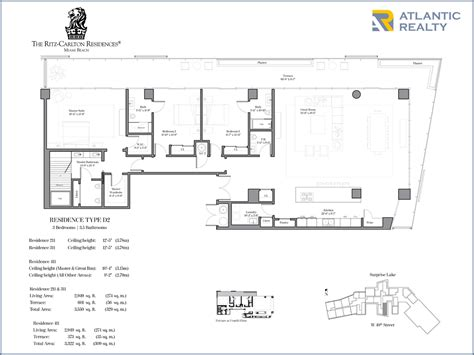 ritz carlton floor plans the ritz carlton residences miami new miami florida