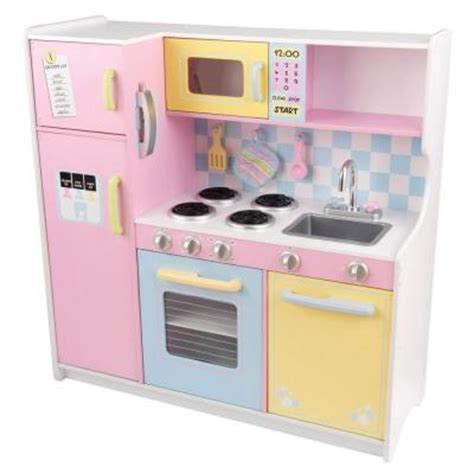 Kitchen Playsets For by Kidkraft Large Pastel Kitchen Playset 53181 The Home Depot