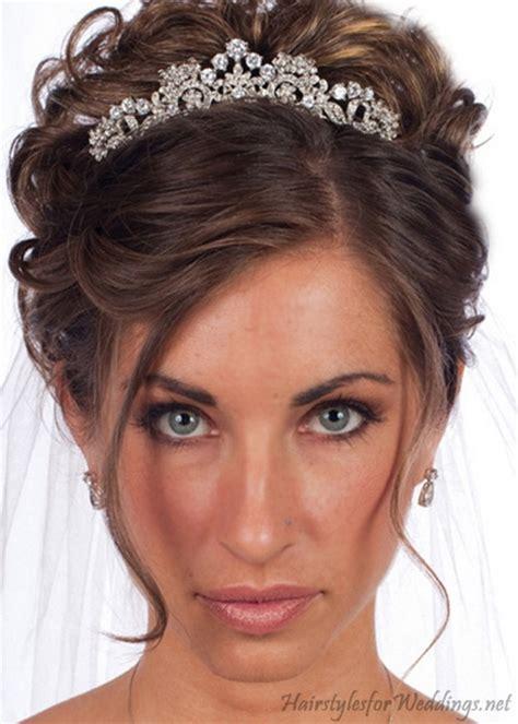 bridal hairstyles tiara wedding hair tiaras