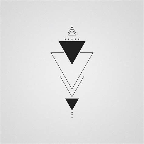 triangle tattoo design best 25 triangle tattoos ideas on geometric