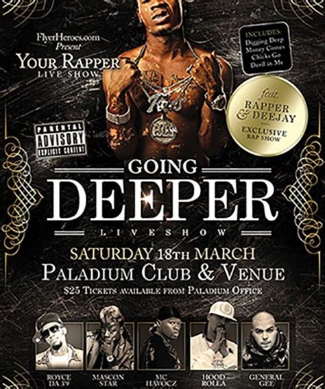 free hip hop flyer templates going deeper free hip hop psd flyer template free flyer