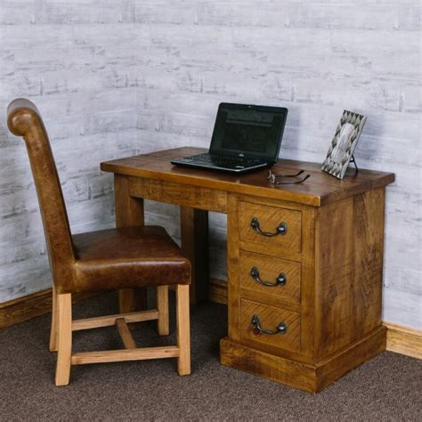 Home Office Desk Rustic Chunky Dressing Table Desk Rustic Plank Home Office