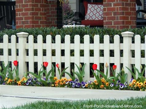 Home Plans With Porches by Picket Fence Ideas For Instant Curb Appeal
