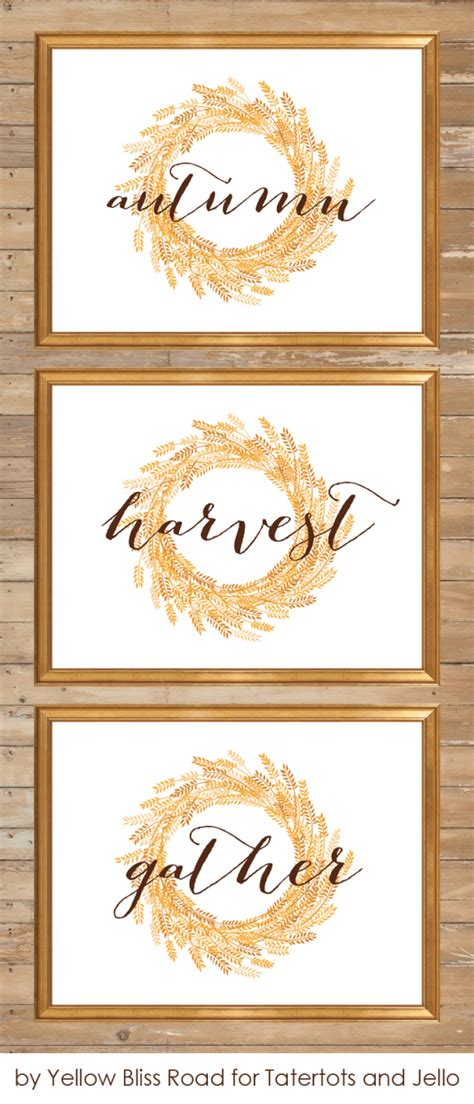 printable fall decorations ten free fall printables from thrifty decor
