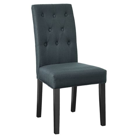 Sided Upholstery Buttons by Confer Fabric Side Chair Button Tufted Gray Dcg Stores