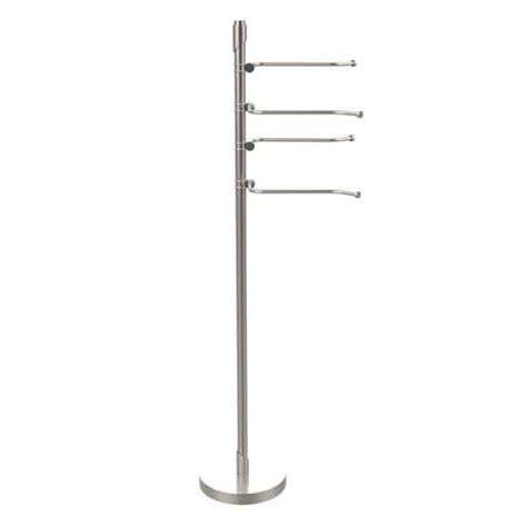 free standing towel racks for bathrooms brushed nickel brushed nickel standing towel rack bellacor