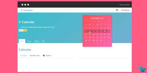 laravel calendar tutorial v calendar a clean and lightweight calendar plugin for