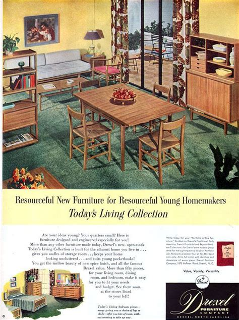 1960s drexel perspective dining room furniture ad 54 best images about mcm drexel furniture on pinterest
