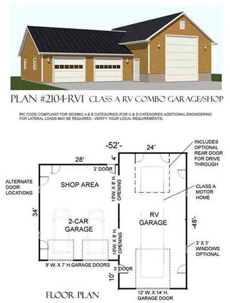 garage plan shop rv garage plan 2104 rv1 by behm design shop garage