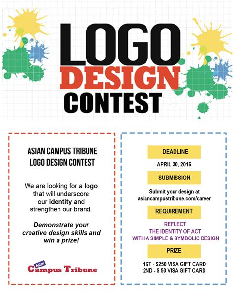 Giveaway Design - closed asian cus tribune logo design contest asian cus tribune