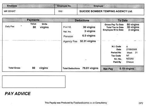 bomber s payslip found in back of cab the poke