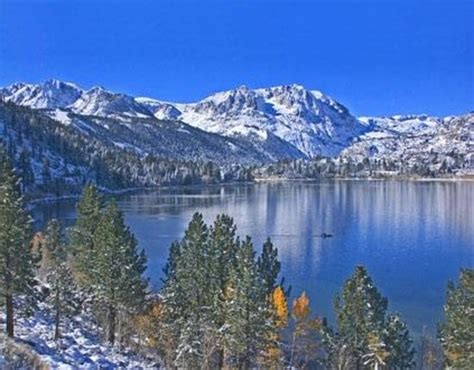 Lake Front Cabins June Lake Ca by Snow On June Lake Picture Of Lake Front Cabins