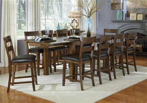 9 Counter Height Dining Room Sets by Aamerica Mariposa 9 Counter Height Dining Room Wayside Furniture Pub Table And Stool Set
