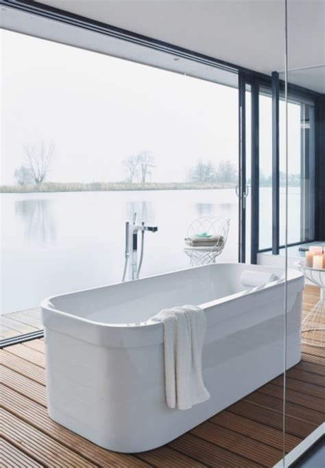 baignoire ilot duravit salle de bain de luxe salledebains docks de clamart