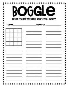 Boggle Printable Template by Boggle Sheet Molding Minds